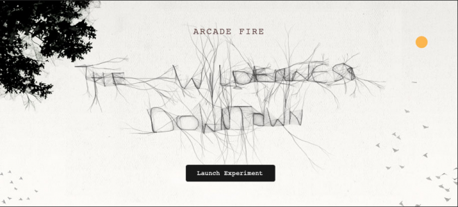 Arcade Fire's 'We Used To Wait' (The Wilderness Downtown Chrome Experiment)