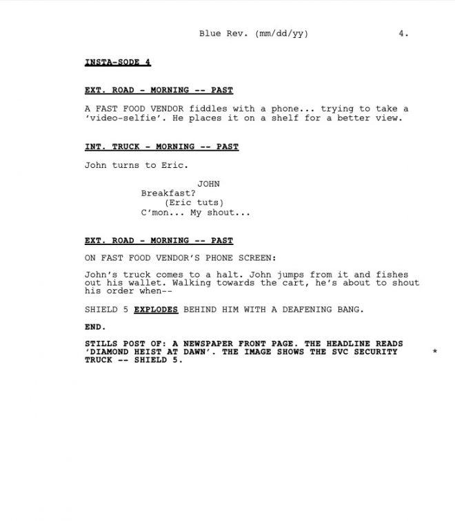Shield 5 Episode 4: Coffee Break Script
