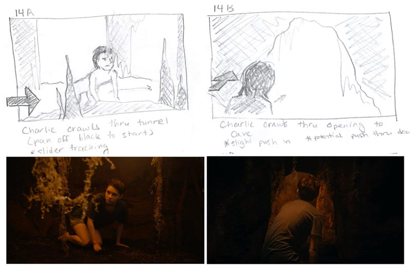 Breaking The Scene - Skin // Storyboard